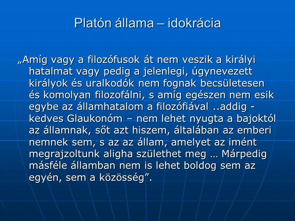 Platón állama – idokrácia