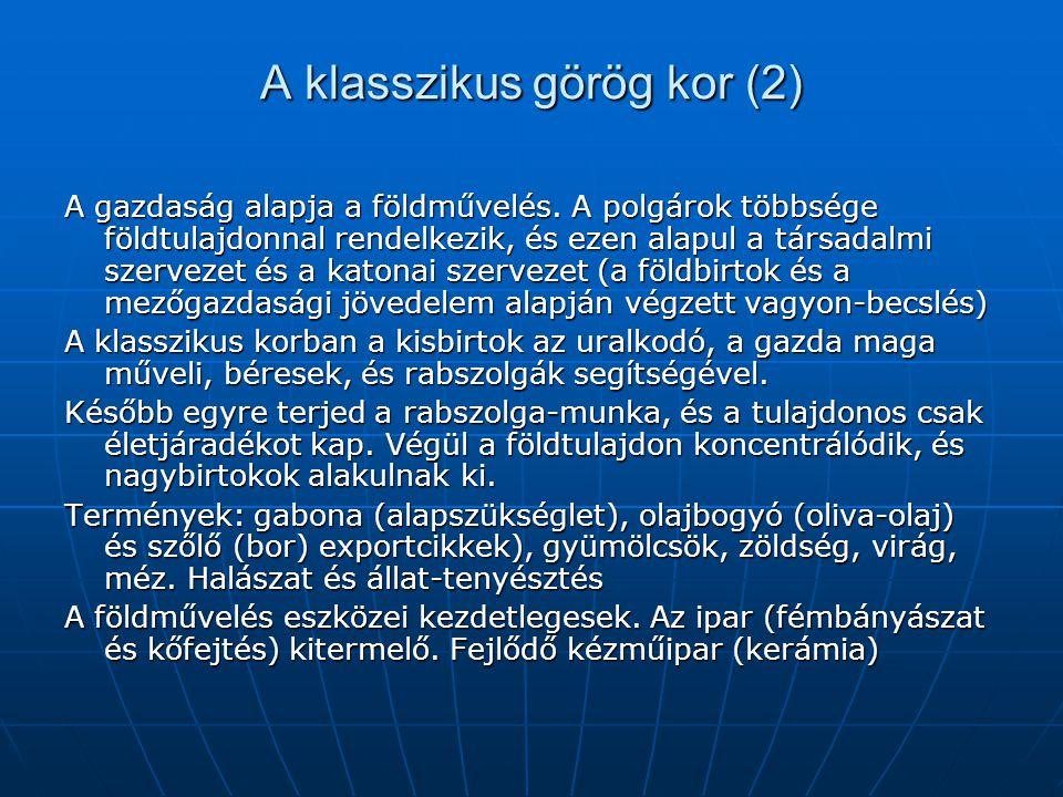 A klasszikus görög kor (2)