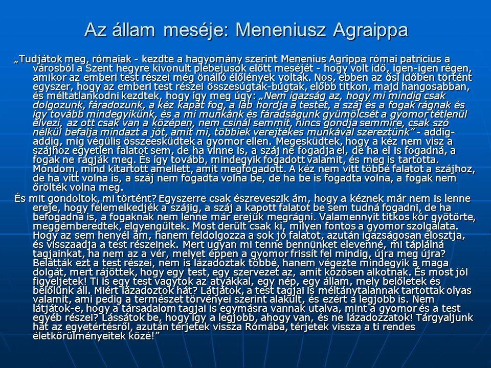 Az állam meséje: Meneniusz Agraippa