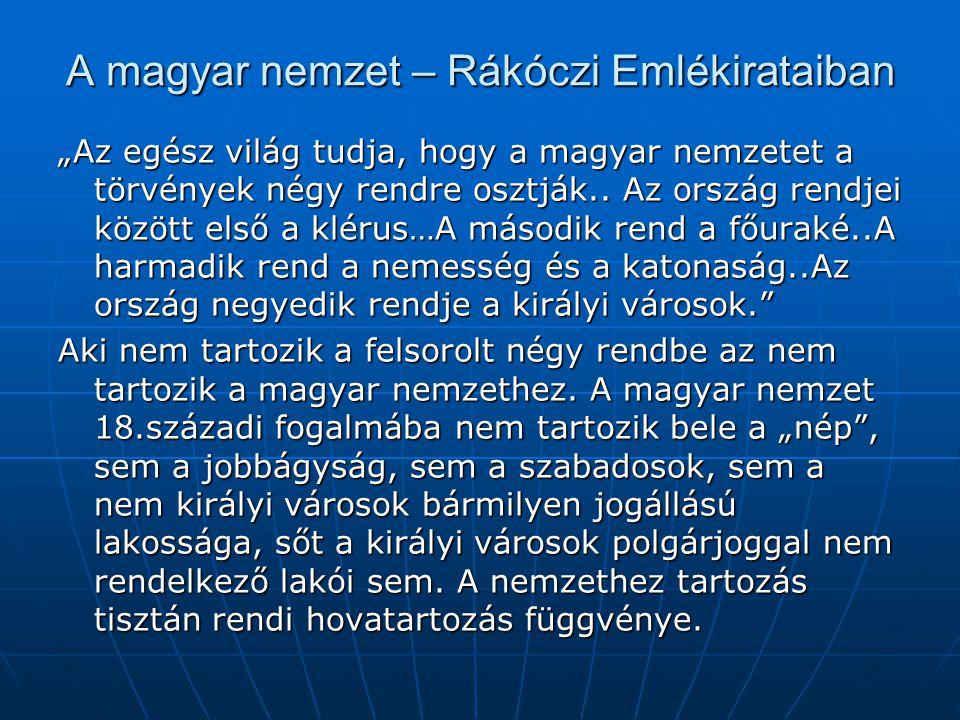 A magyar nemzet – Rákóczi Emlékirataiban