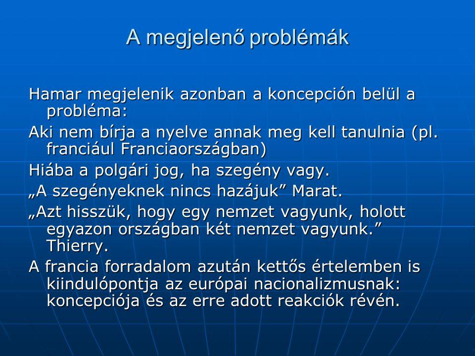 A megjelenő problémák Hamar megjelenik azonban a koncepción belül a probléma: