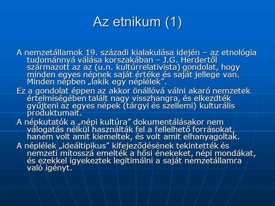 Az etnikum (1)