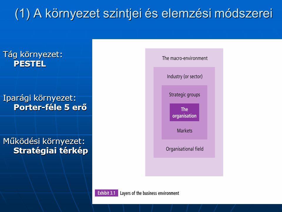 (1) A környezet szintjei és elemzési módszerei