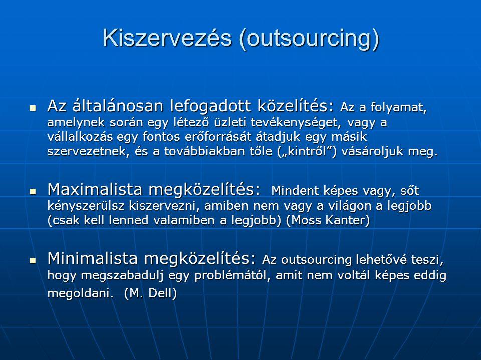 Kiszervezés (outsourcing)