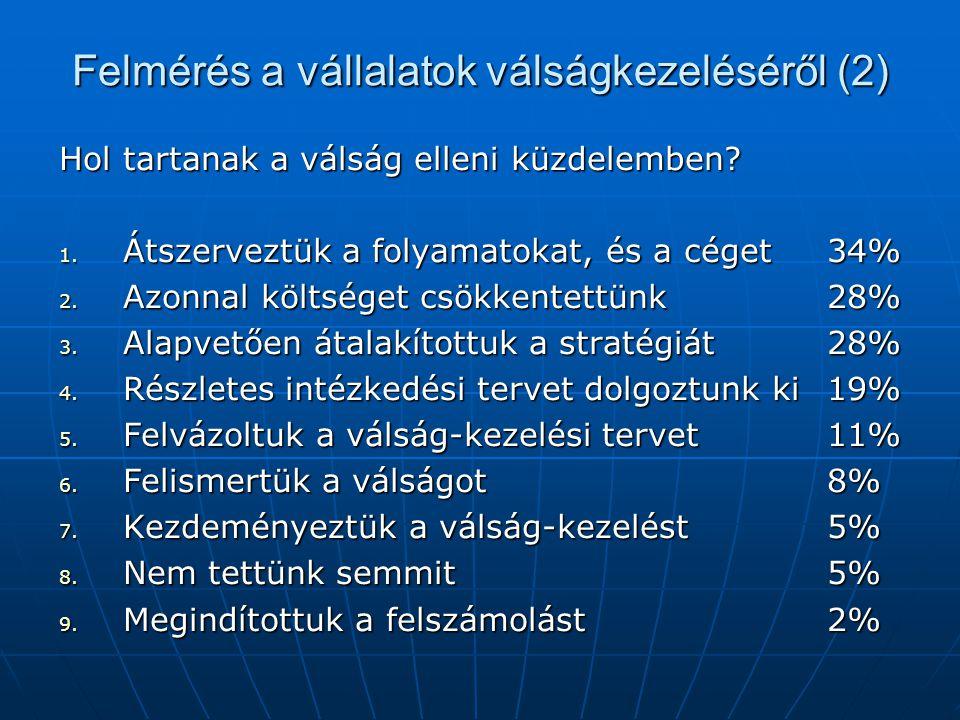 Felmérés a vállalatok válságkezeléséről (2)