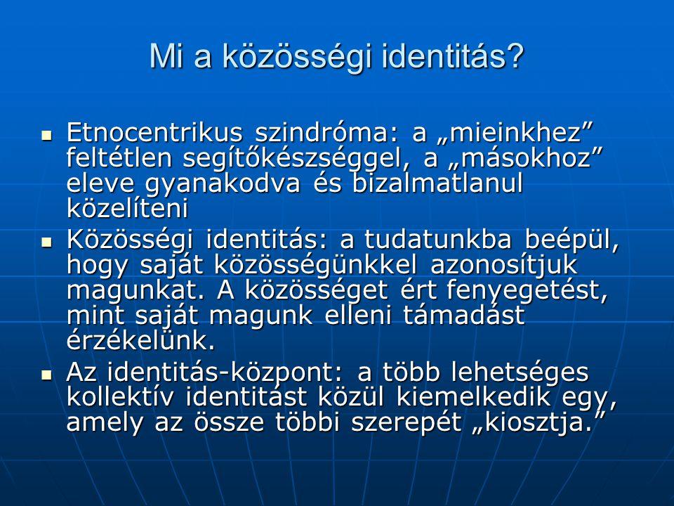 Mi a közösségi identitás