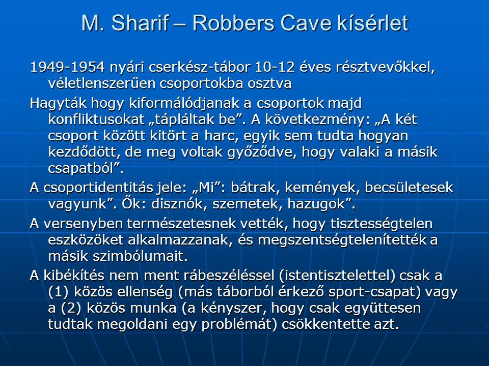M. Sharif – Robbers Cave kísérlet
