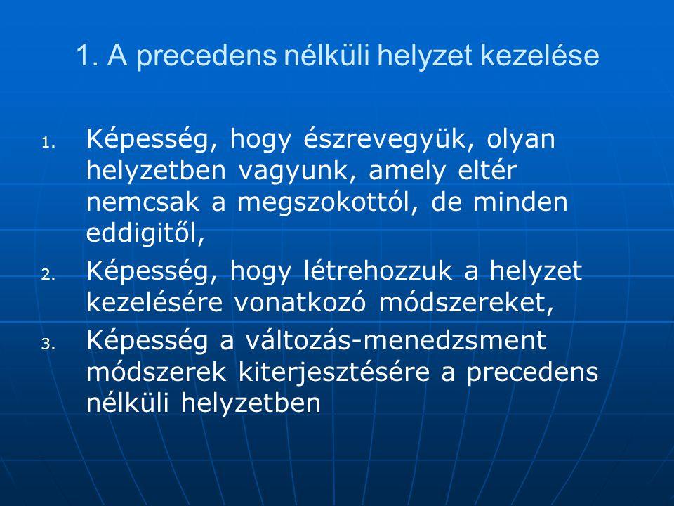 1. A precedens nélküli helyzet kezelése
