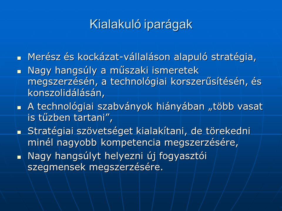 Kialakuló iparágak Merész és kockázat-vállaláson alapuló stratégia,