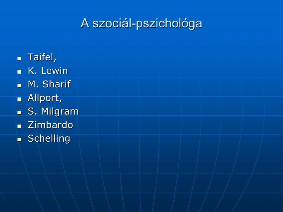 A szociál-pszichológa
