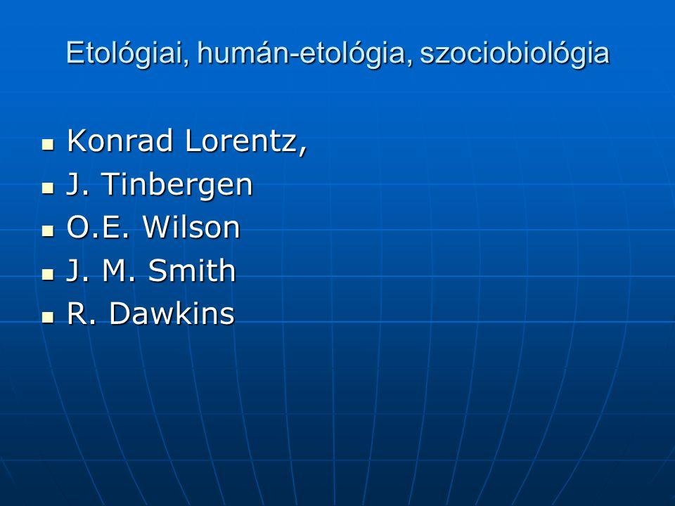 Etológiai, humán-etológia, szociobiológia