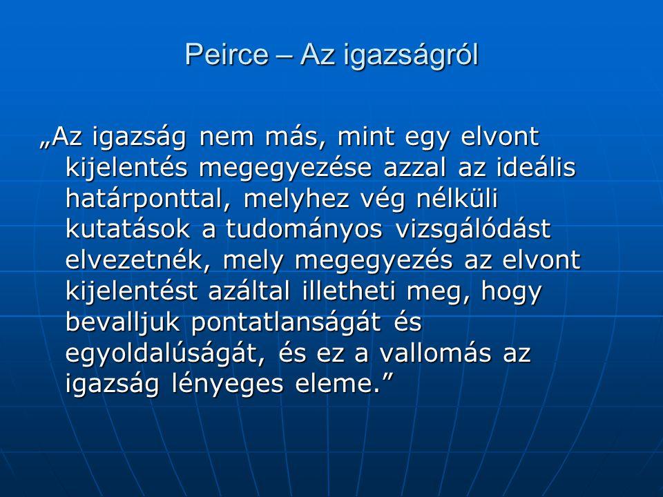 Peirce – Az igazságról