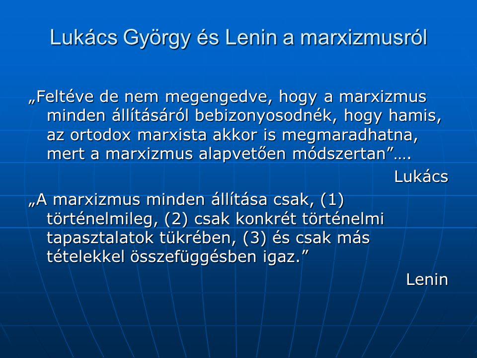 Lukács György és Lenin a marxizmusról