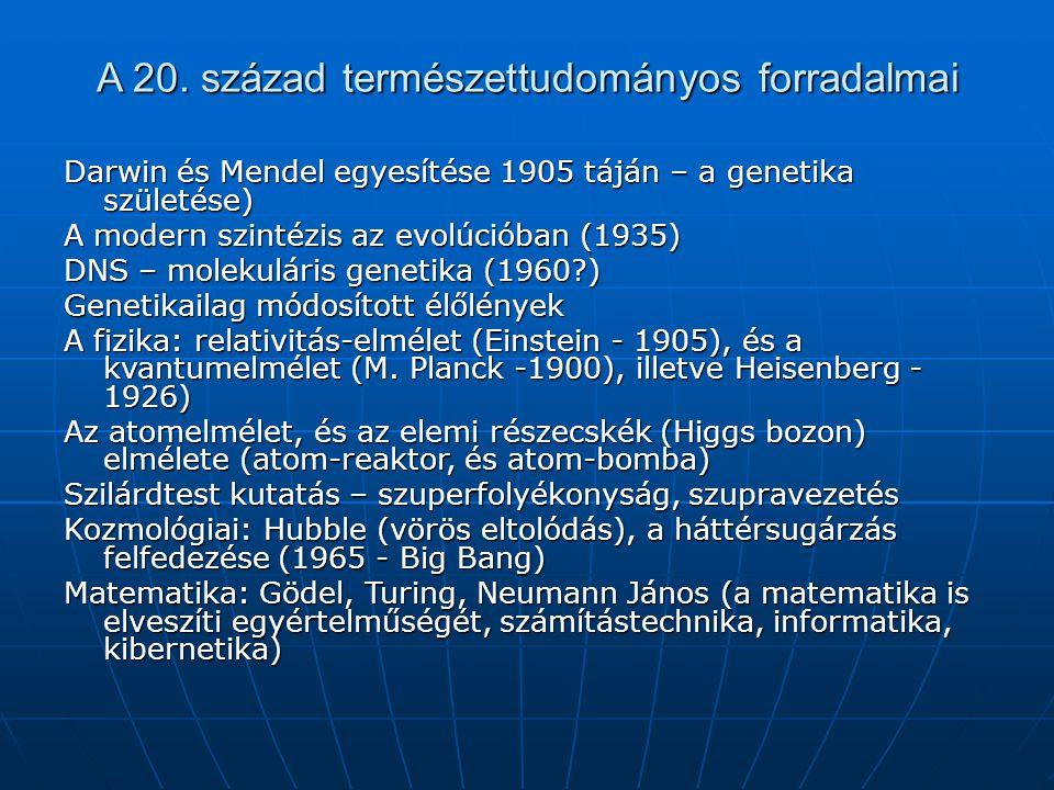 A 20. század természettudományos forradalmai