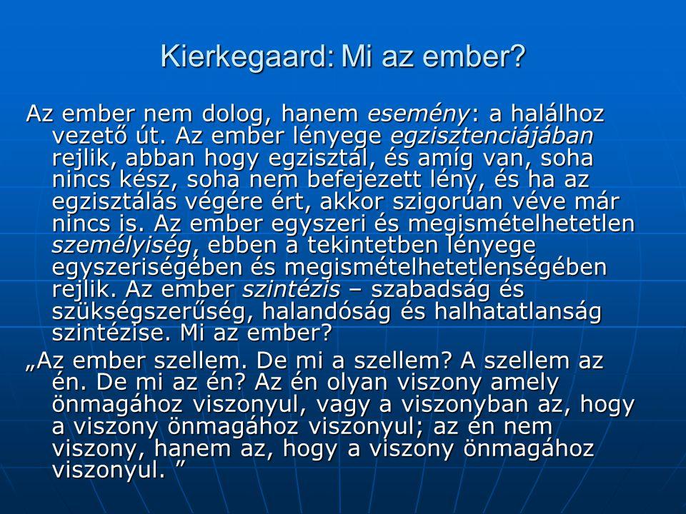 Kierkegaard: Mi az ember