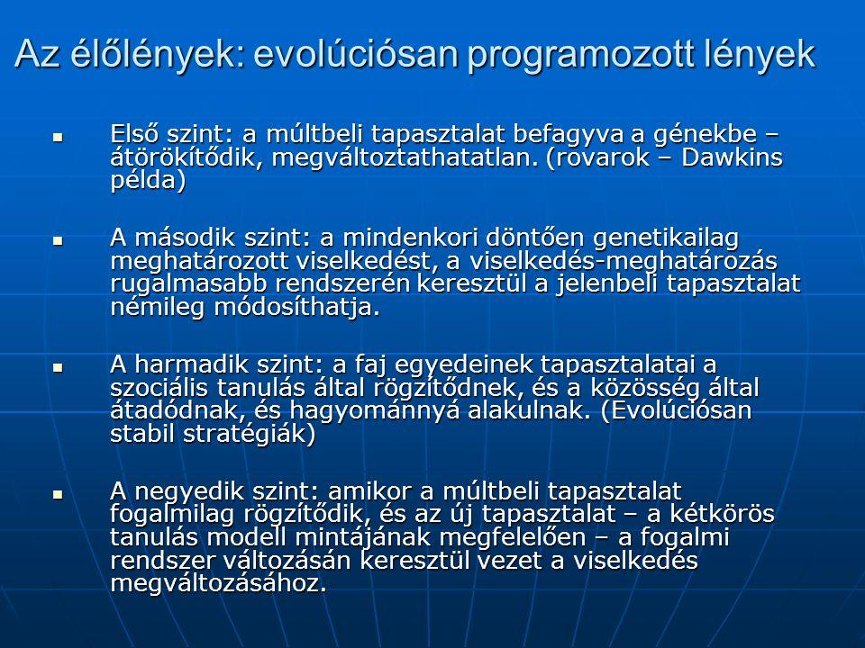 Az élőlények: evolúciósan programozott lények