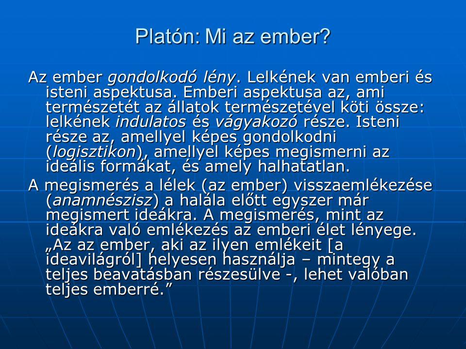 Platón: Mi az ember