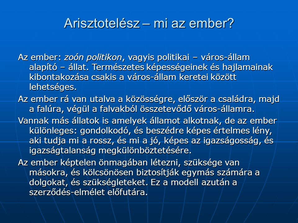 Arisztotelész – mi az ember