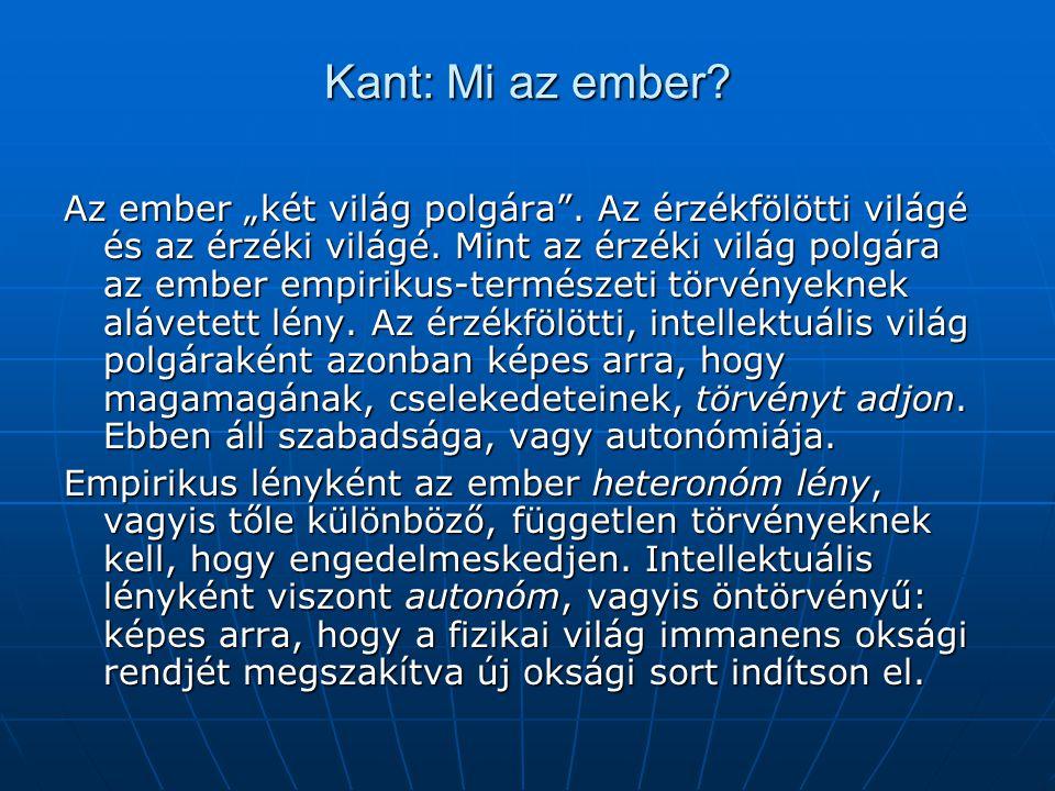 Kant: Mi az ember