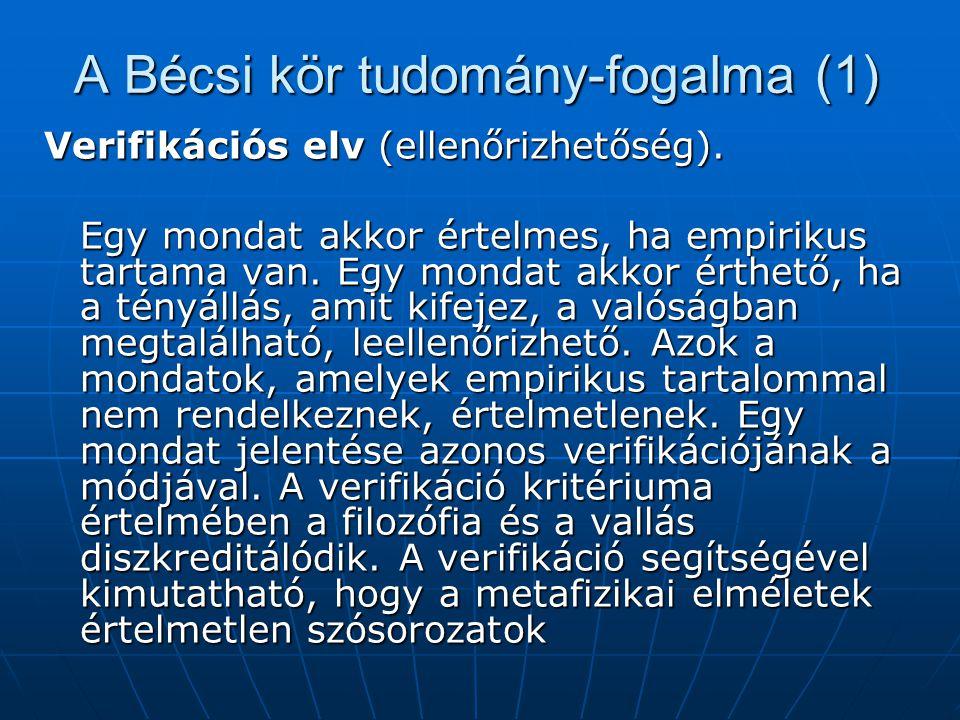 A Bécsi kör tudomány-fogalma (1)