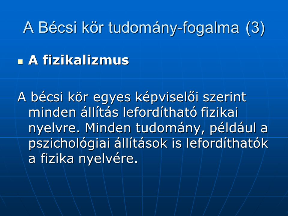 A Bécsi kör tudomány-fogalma (3)