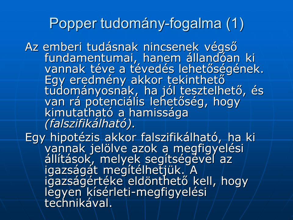 Popper tudomány-fogalma (1)