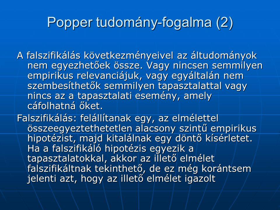 Popper tudomány-fogalma (2)