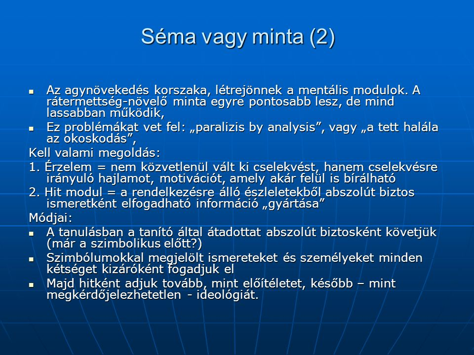 Séma vagy minta (2)