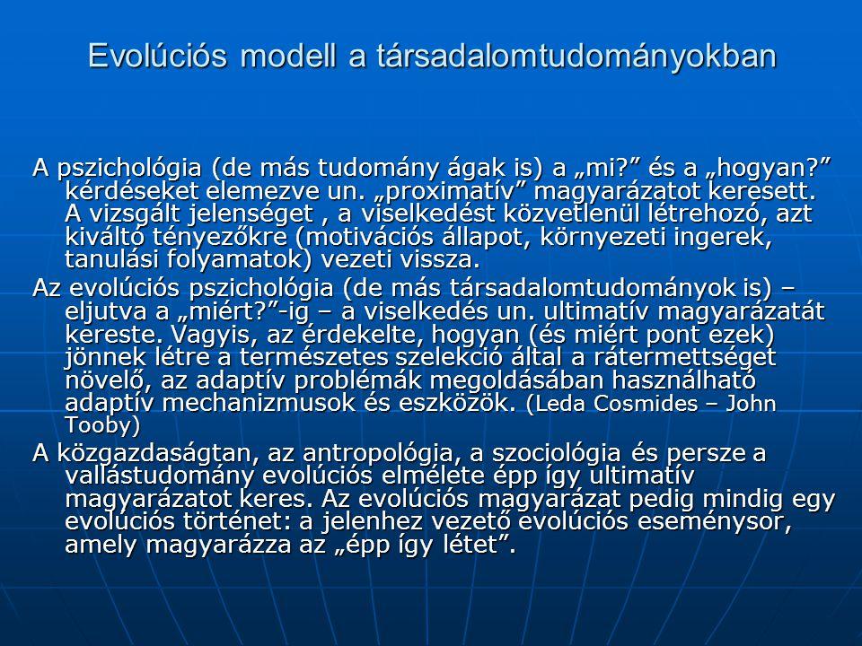 Evolúciós modell a társadalomtudományokban