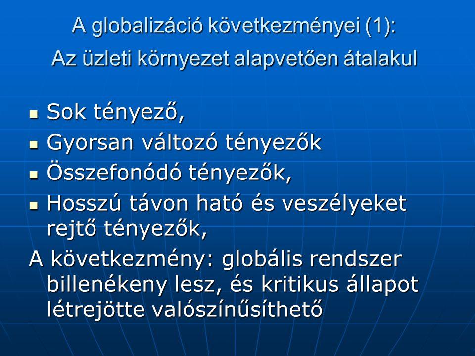 A globalizáció következményei (1): Az üzleti környezet alapvetően átalakul