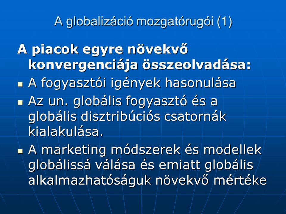 A globalizáció mozgatórugói (1)