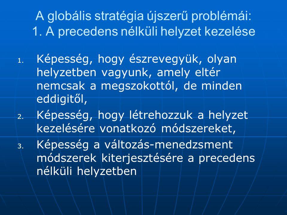 A globális stratégia újszerű problémái: 1