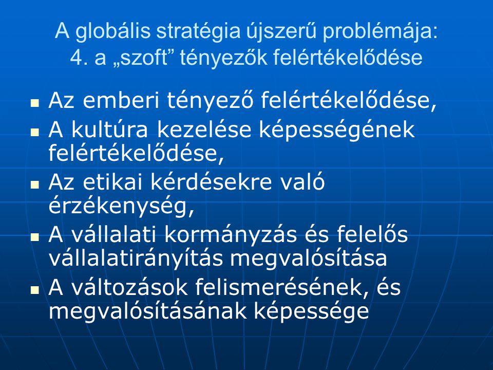 A globális stratégia újszerű problémája: 4