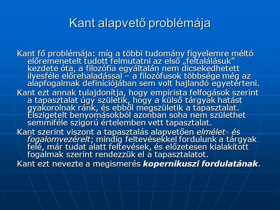 Kant alapvető problémája