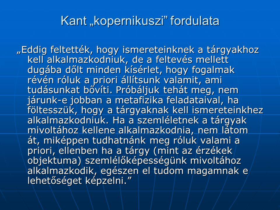 """Kant """"kopernikuszi fordulata"""
