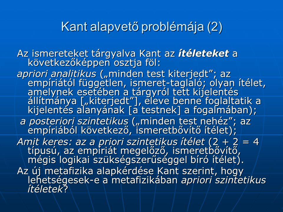 Kant alapvető problémája (2)