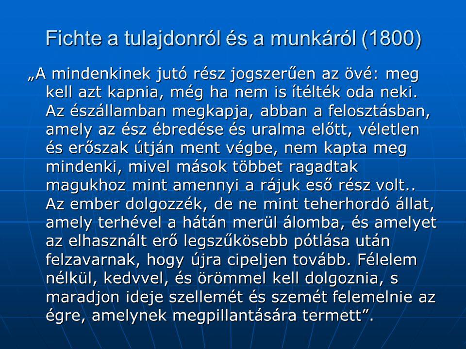 Fichte a tulajdonról és a munkáról (1800)