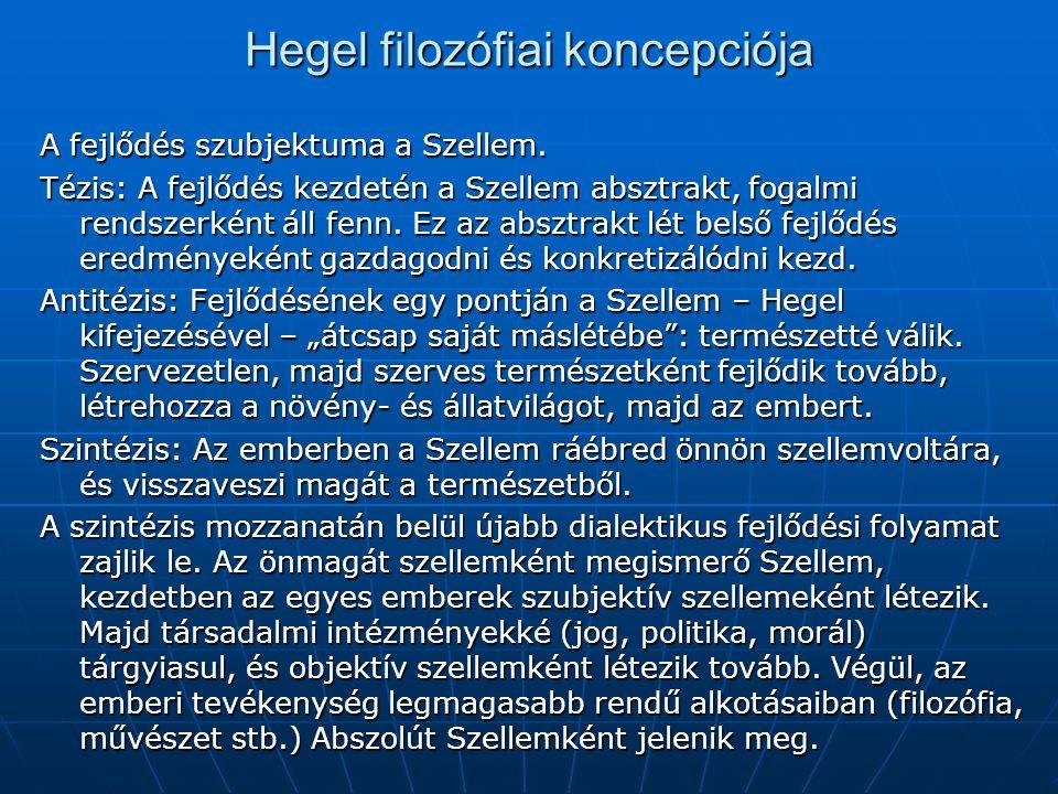 Hegel filozófiai koncepciója