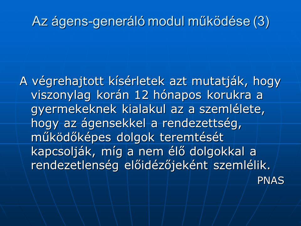 Az ágens-generáló modul működése (3)