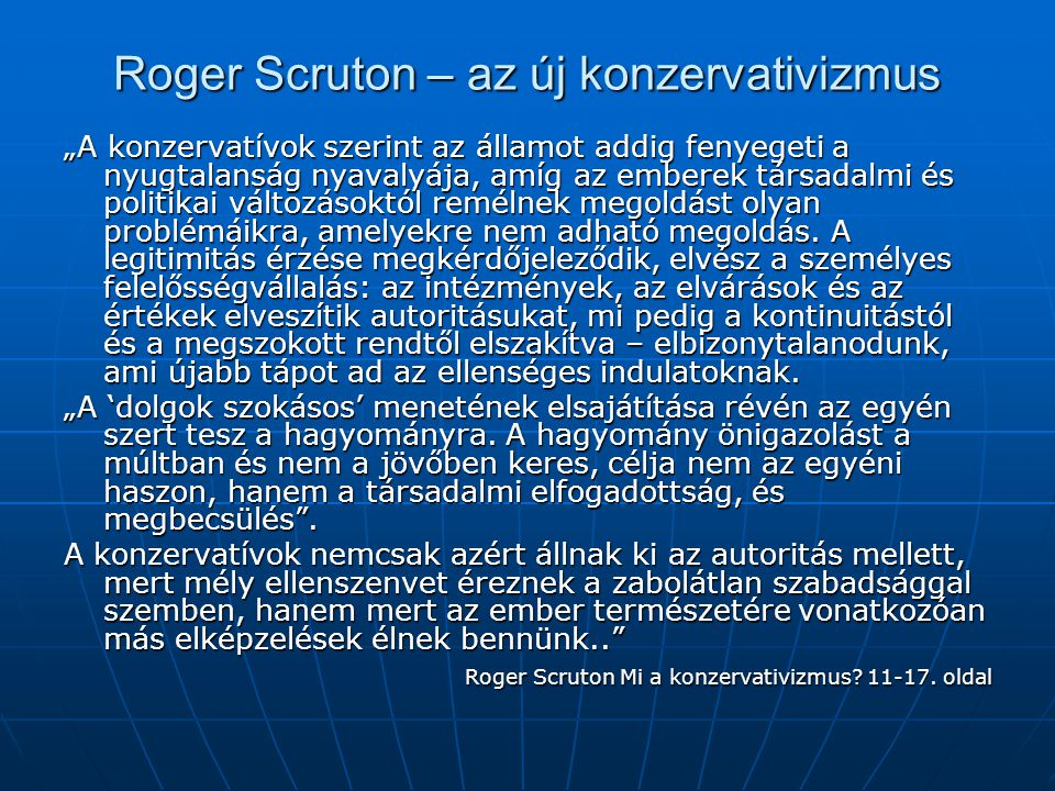 Roger Scruton – az új konzervativizmus