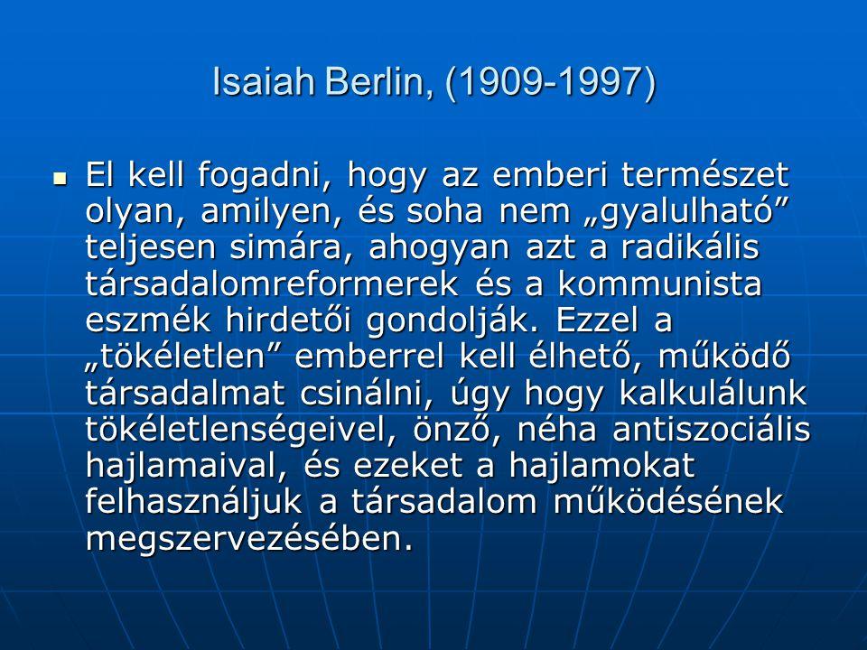 Isaiah Berlin, (1909-1997)