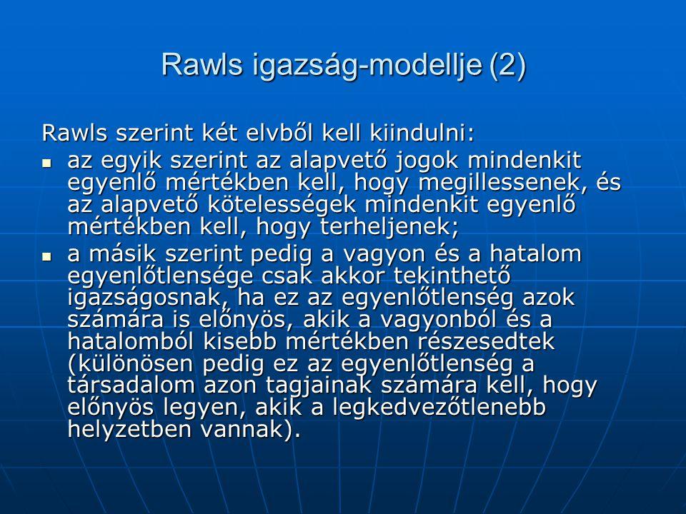 Rawls igazság-modellje (2)