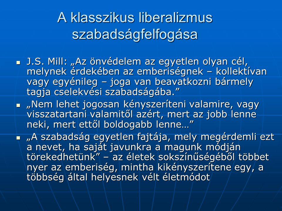 A klasszikus liberalizmus szabadságfelfogása
