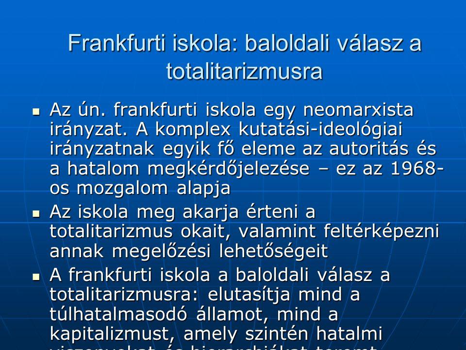 Frankfurti iskola: baloldali válasz a totalitarizmusra