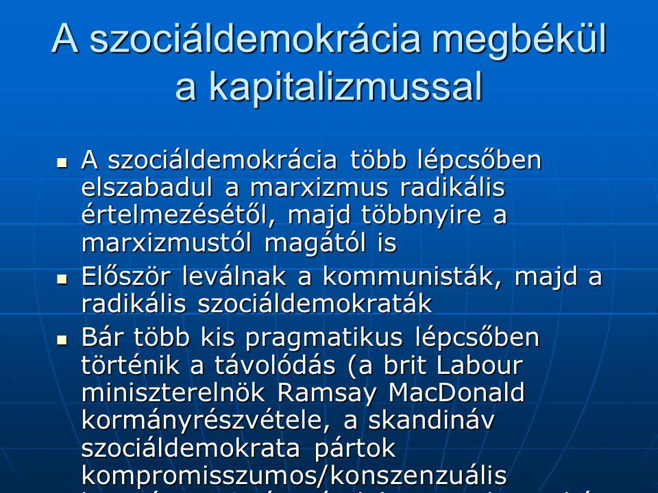 A szociáldemokrácia megbékül a kapitalizmussal