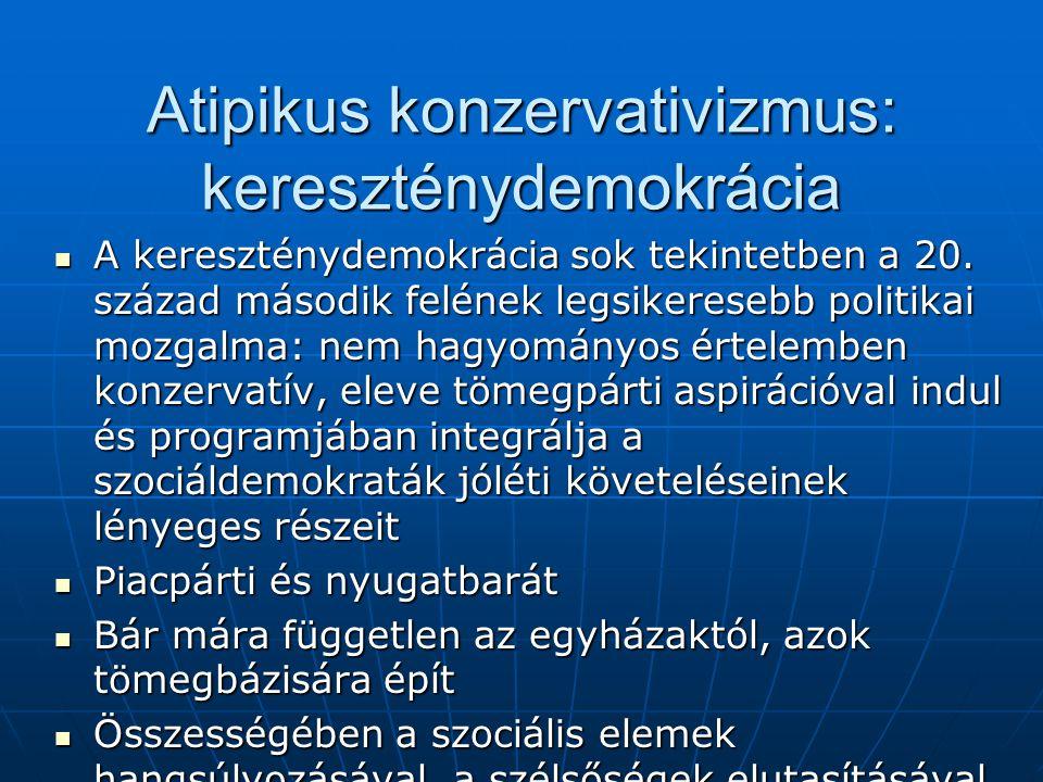 Atipikus konzervativizmus: kereszténydemokrácia