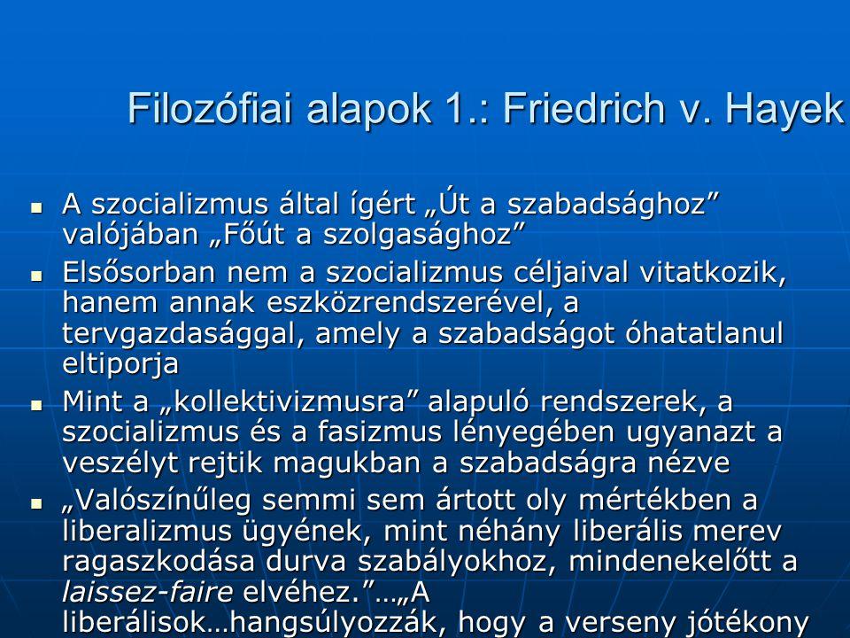 Filozófiai alapok 1.: Friedrich v. Hayek