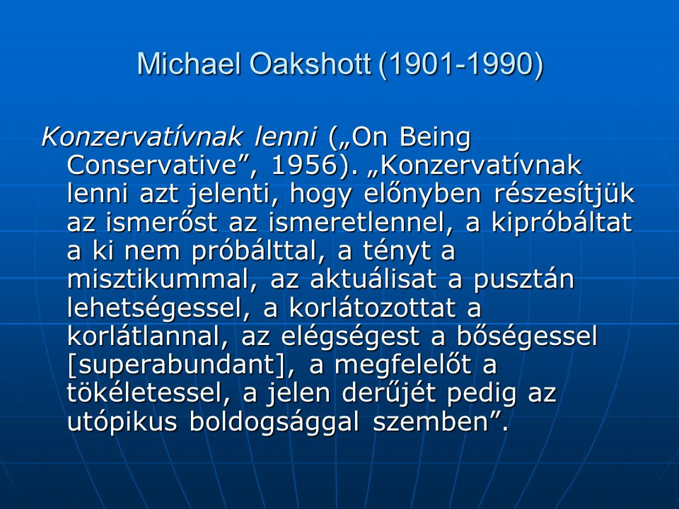 Michael Oakshott (1901-1990)
