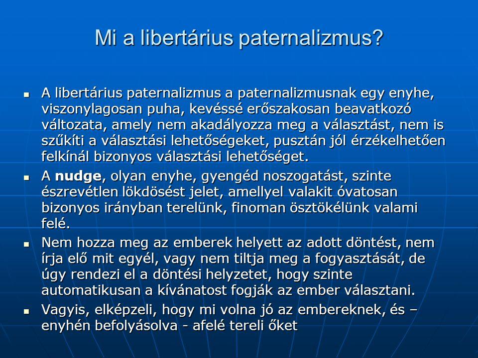 Mi a libertárius paternalizmus