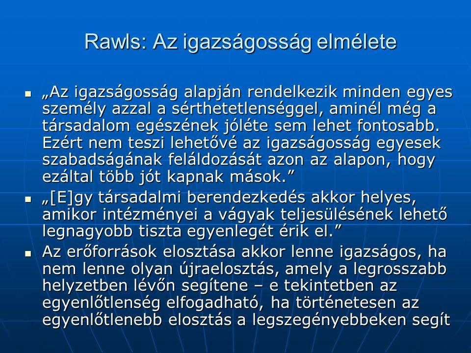 Rawls: Az igazságosság elmélete